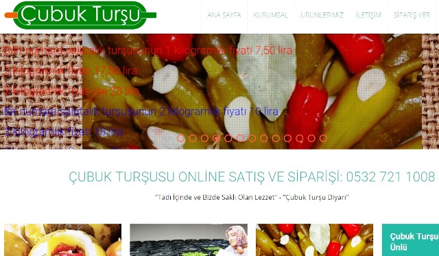 Çubuk Turşu Web Sitesi Hazırlandı